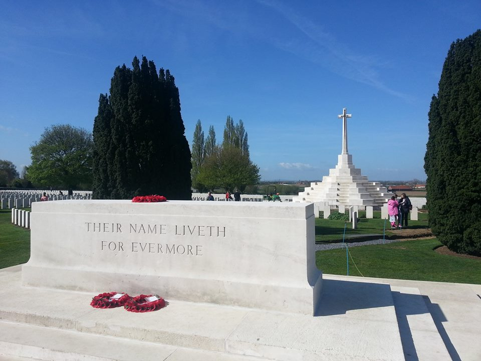 En brittisk gravgård i Ypres